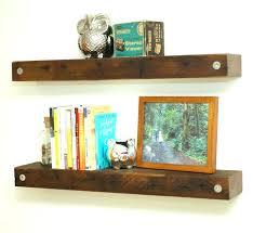 refurbished wood shelves reclaimed wood floating shelves for