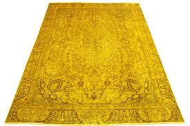 Schlafzimmer Teppich Rund Gold Gelber Teppich Im Modern Vintage Design 350x250 Teppich
