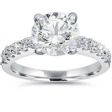 overstock engagement rings 14k white gold 2ct tdw clarity enhanced engagement ring