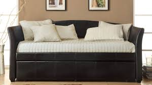 daybed interior decoration bedroom exquisite black leather full