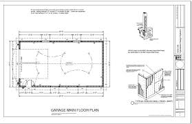 cabin plans with garage g227 22 x 40 16 garage plan blueprints cabin plans