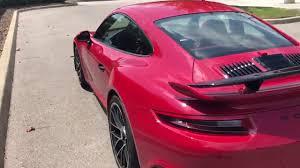 turbo porsche red 2017 porsche 911 turbo s in a rare carmine red youtube