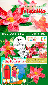 paper plate poinsettia holiday craft for kids deep space sparkle