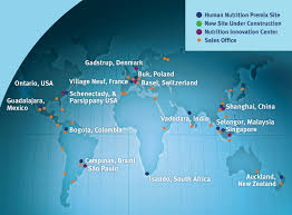 Switzerland World Map by Custom Nutrient Premixes Products And Services Dsm