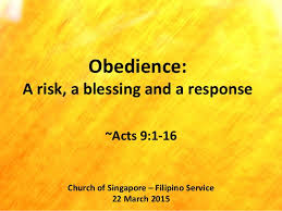 obedience a risk a blessing and a response