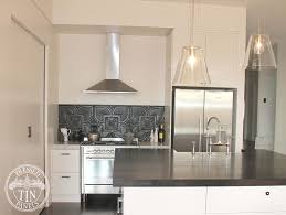 pressed tin panels alexandria pattern powder coated in black and