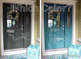 Exterior Door Colors Worth Pinning Gray Door Or Teal Door How About Both