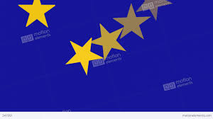 Blue Flag With Stars European Union Flag Spinning Stars Banner Background Video