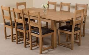 Extending Dining Table And 8 Chairs Seattle Solid Oak 180 Cm 210 Cm Extending Dining Table U0026 8