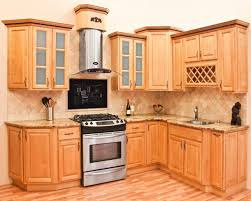 Light Brown Kitchen Cabinets Kitchen Contemporary Maple Kitchen Cabinets In Black With Light