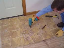removing ceramic tile flooring screwed backerboard