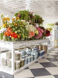 Flower Shop Interior Pictures Swallows U0026 Damsons Design Sponge Note The Various Containers For