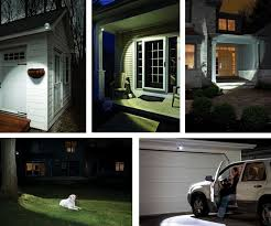 mr beams security lights wireless motion sensor led spotlight remote control brown mb371