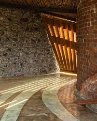 natural looking house with exposed brick and stone walls u2013 the