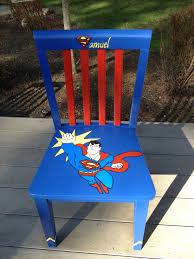 custom ordered chair superman so fun to create painted