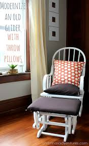 modernize an old glider with throw pillows christinas adventures