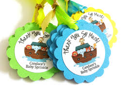 noah u0027s ark party favor tags for kids birthday or baby shower