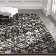 delphine black wool rug crate and barrel