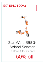 target black friday bb8 today only save 50 off star wars 3 wheel scooter at target