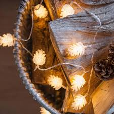 portable battery operated led string light christmas pinecone
