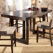 glass counter height table sets contemporary dining room decor with ocean park dark brown counter