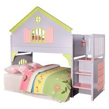 girls bed with desk kids room attractive white loft bunk bed with plenty additional