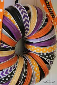 halloween washi tape and mason jar rings wreath tgif this