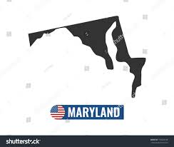 maryland map vector maryland map isolated on white background stock vector 779625148