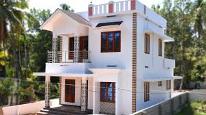 Home Design For Rectangular Plot Angamaly 4 5 Cents Plot And 1300 Sq Ft Low Budget House For Sale