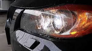 bmw e90 headlights bmw e90 headlights washer in action youtube