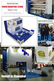 yota modular island 20x20 exhibition booth for food trade show in
