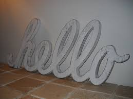 wood sign hello sign typography shabby chic by ruralurbanliving