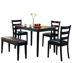Wood Dining Table With Bench And Chairs Dining Tables Set Bench Amazon Com