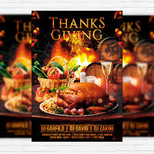 thanksgiving day premium flyer template cover