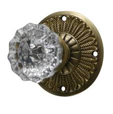 Dummy Door Knobs For French Doors - feathers crystal fluted door knob antique brass finish