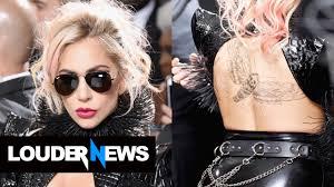 lady gaga gets metallica back tattoo the week before her grammys