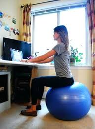 desk isokinetics inc adjustable back exercise ball office ball
