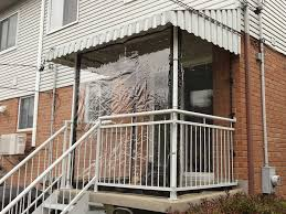 Clear Vinyl Curtains For Porch Our Clear Vinyl Curtains Protect Porches Driveways Balconies