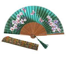 hand held folding fans amajiji 8 27 21cm chinese vintage retro style hand held folding