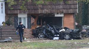 car crashes into house in plainview leaving one dead cops say