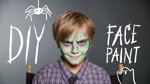 diy face paint zombie makeup for halloween youtube