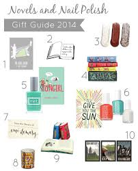 gift guide novels and nail polish