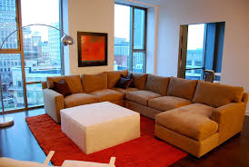hand made custom sectional for model condo by access designer