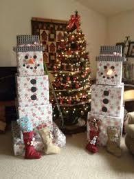 Decorate Cardboard Box Christmas Cardboard Box Snowman Santa Baby U0026 Frosty