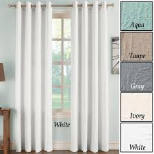 Drapery Panels With Grommets Donovan Crinkle Curtain Panels With Grommets From Collections Etc