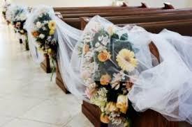 Wedding Pew Decorations Church Pew Wedding Decorations