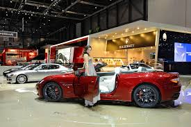 maserati grancabrio sport worldwide debut at the geneva auto show for the maserati