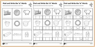 oi worksheet oi words differentiated activity sheet pack