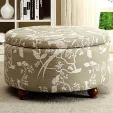 Floral Ottoman Storage Ottoman With Bird Floral Print Free Shipping Today