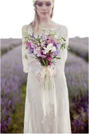 a boho themed bridal inspiration shoot set in fields of lavender